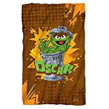 Sesame Street Oscar The Grouch Fleece Throw Blanket (36'x58')