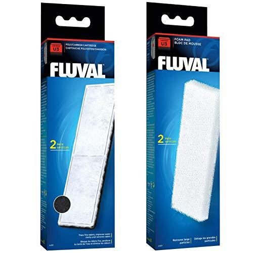 Juego de bloques de espuma y juego de bloques de poliéster y carbono U2/U3/U4 de Fluval
