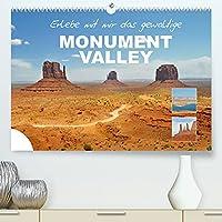 Erlebe mit mir das gewaltige Monument Valley (Premium, hochwertiger DIN A2 Wandkalender 2022, Kunstdruck in Hochglanz): Das Monument Valley ist eine Ebene auf dem Colorado-Plateau in Utha. (Monatskalender, 14 Seiten )