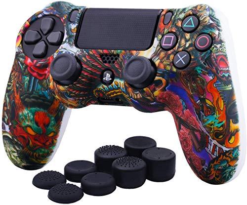PS4 DUALSHOCK 4 Funda para Control PlayStation 4 + 8 Grips (Acuarela)