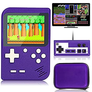 Retro Handheld Game Console with Protector Case 400 Free Classical FC Games Support for Connecting TV & Two Players Portable Video Game Gifts for Adults & Kids 8-12 90s Retro Toys