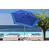 Best Beach Umbrella 8fts - AMMSUN 8ft Fiberglass Ribs Commercial Grade Patio Beach Review