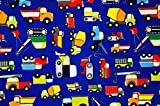 Construction Zone Premium Gift Wrapping Paper Roll - 24' X 16'