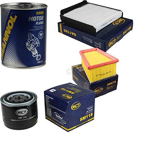 Original SCT Inspektionspaket Filter Set + Motor Flush Motorspülung 11583565