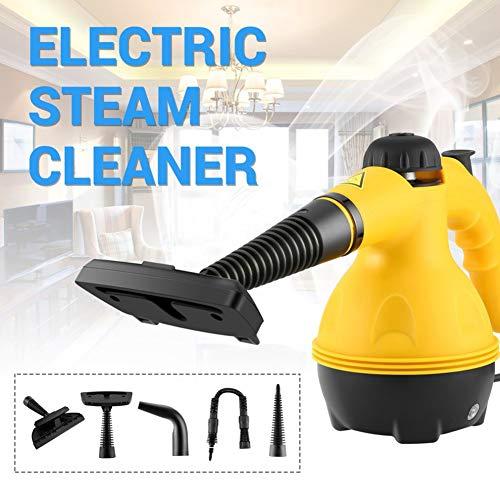 F-JX Limpiador de Vapor eléctrico, Portátil de Mano Vapor con 6 Accesorios de Limpieza, Sala y del hogar Home Office Limpieza, Herramienta Pincel de Cocina