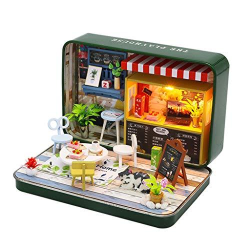 Casa de muñecas de madera 3D en miniatura, casa de muñecas en miniatura, con muebles, teatro, casa de maquetas, accesorios para muñecas