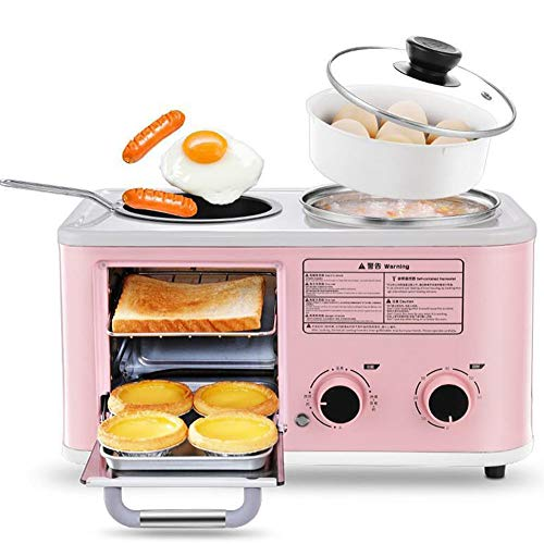 Multi Stainless Steel Toaster 2 Slice Toasters Best Rated Prime with Nonstick Electric Hot Pot Omelette Pan Egg Cooker Breakfast Machine