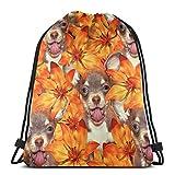 IUBBKI Chihuahua chiots sac à dos à cordon sac à dos léger sport sac de sport grande taille étanche chaîne sac à dos pour Yoga voyage Shopping hommes femmes