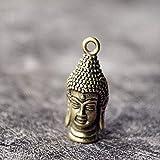 LKXZYX soprammobili casa Decorazioni Famiglia Regalo statuine Domestica Esposizione,Mini Chiave in Ottone per Auto Giocattolo a Tasca Tascabile con Testa di Buddha Rulai