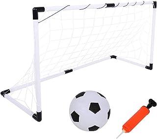 Tbest barn fotboll set, mini vikbar fotbollsuppsättning minitore-leksak med nät, boll och bollpump, barn fotbollstor träni...