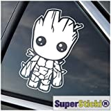 SUPERSTICKI Guardians of The Galaxy Baby Groot süß niedlich ca 15 cm Tuning Racing Rennsport...