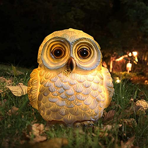 Solar Lantern Owl Table Lamps Solar Garden Animal Lights for Yard,Patio, Decorative Waterproof Garden Lamps,Indoor House Gifts Table Decor