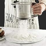Colador de harina de acero inoxidable manual tamiz de harina de mano tamiz pequeño tamiz de cocina de malla fina para hornear
