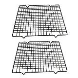 Gobesty Griglia di raffreddamento in acciaio inossidabile, 2 pezzi Griglia di raffreddamento per torte in metallo Griglia di raffreddamento per torte Griglia di raffreddamento per torte