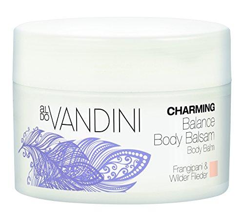 aldoVANDINI CHARMING Balance Body Balsam Frangipani & Wilder Flieder - vegan & parabenfrei, 2er Pack (2 x 200 ml)