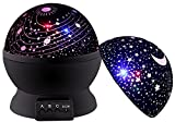 Night Light for Kids, DCAUT Rotating Moon Stars Projector Night Lamp with Colour