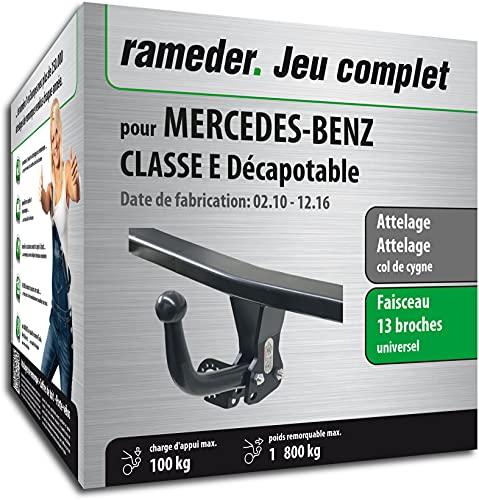 Rameder Pack, attelage démontable avec Outil + Faisceau 13 Broches Compatible avec Mercedes-Benz Classe E Décapotable (161425-08524-2-FR).