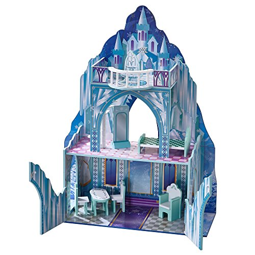 Teamson Kids - Ice Castle Wooden Doll House with 6 pcs Furniture for 12 inch Dolls