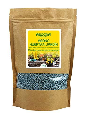 ASOCOA Abono Huerta y Jardín Bolsa 500 g
