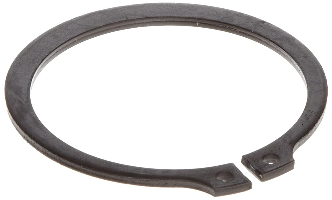 Standard External Retaining Ring, Tapered Section, Axial Assembly, SAE 1060-1090 Carbon Steel, Phosphate and Oil Finish, Meets DIN 471 Specifications, 16mm Shaft Diameter, 1mm Thick, Made in US (Pack of 100)