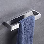 Hoooh SUS 304 Stainless Steel Bath Towel Holder Hand Towel Ring Contemporary Style Wall Mount, Brushed Finish, D110-BN