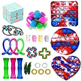 YINGFEINIAO Sensory Fidget Toy Set, Relieves Stress and Anxiety Toys for Children Adult, Fidget Pack Cheap Toys Set, Gifts for Kids & Adults(25Pcs)