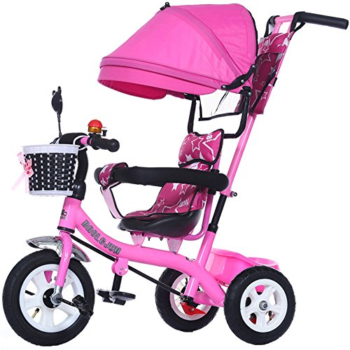 Great Deal! Cylficl Multi-Function Children's 3-Wheeler, Bicycle, 1-3-5 Year-Old Baby Cart, 3 Wheele...