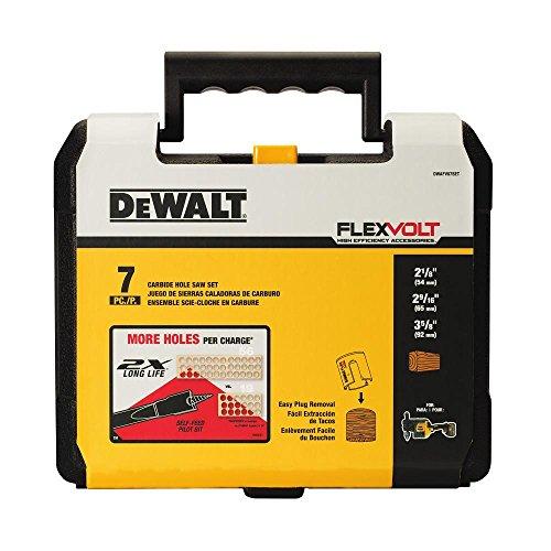DEWALT FLEXVOLT Hole Saw Kit, Carbide, Wood Drilling, 7-Piece (DWAFV07SET)