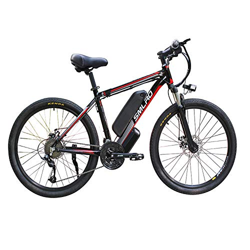 FZYE 26 inch Electric Mountain Bikes,48V/13A/1000W Lithium-ion Battery Mountain Boost Bike Double Disc Brake Bicycle,Black