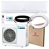 DAIKIN 24,000 BTU 17 SEER Wall-Mounted Ductless Mini-Split A/C Heat Pump System Maxwell 15-ft Installation Kit and Wireless Motion Remote - 10 Year Limited Warranty (24,000 BTU_208-230V)