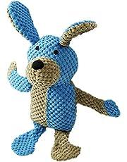 Rollmops Interaktywna zabawka dla psa, przytulanka z piszczącą poduszką, wytrzymała tkanina mieszana, 35 cm