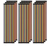 AZDelivery 3 x Jumper Wire Cables de Puente 20 cm Set de 120 pcs cada uno Macho-Hembra/Macho-Macho/Hembra-Hembra compatible con Arduino y Raspberry Pi Breadboard con E-Book incluido! (360 pcs)