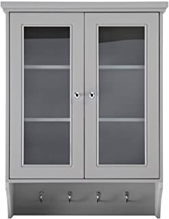 Home Decorators Collection Gazette 23-1/2 in. W x 31 in. H x 7-1/2 in. D Bathroom Storage Wall Cabinet in Grey