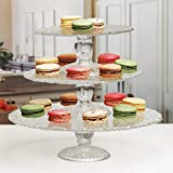 Circleware 54086 Pebble Decorative Glass Cake Stand Plate 3-Piece Home and...