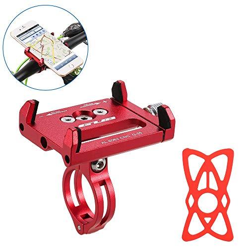 Lixada Fahrradträger für MTB-Fahrräder Universal verstellbarer Silikonband-GPS-Halter für Handy-Halterungsklemme Geeignet für 31,8 mm / 25,4 mm Lenker