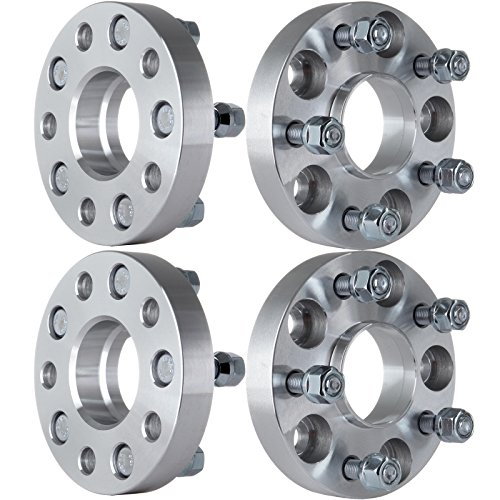 ECCPP 4x 5 lug Hubcentric Wheel Spacer Adapters 25mm 5x114.3 to 5x114.3mm 5x4.5 to 5x4.5 64.1mm compatible with A-cu-ra RL CL RSX TSX TL Element Civic CRV with 12x1.5 Studs