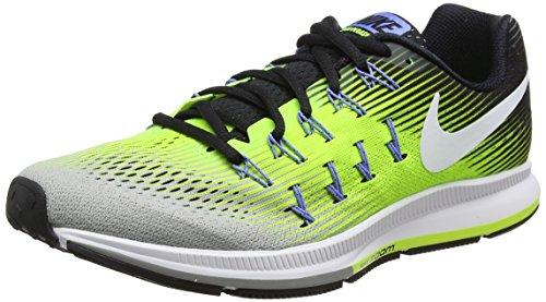 Nike Air Zoom Pegasus 33, Zapatillas de Running Hombre, Varios Colores (Ghost Green/Black/Pure Platinum 007), 39 EU