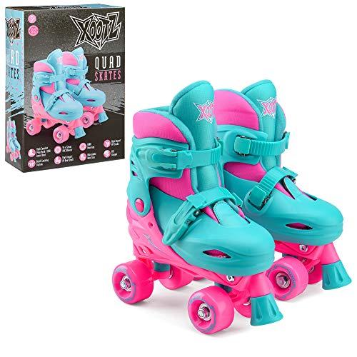 Xootz Kids Quad Skates Beginner Adjustable Roller Skates Girls PinkBlue