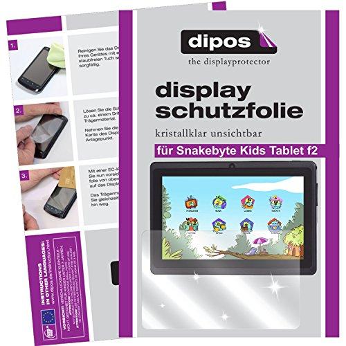 dipos I 2X Schutzfolie klar kompatibel mit Snakebyte Kids Tablet f2 Folie Displayschutzfolie