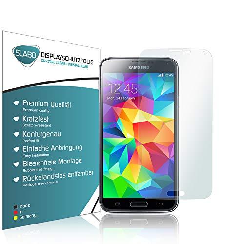 Slabo 4 x Bildschirmschutzfolie für Samsung Galaxy S5 / S5 Neo Bildschirmfolie Schutzfolie Folie Zubehör Crystal Clear KLAR