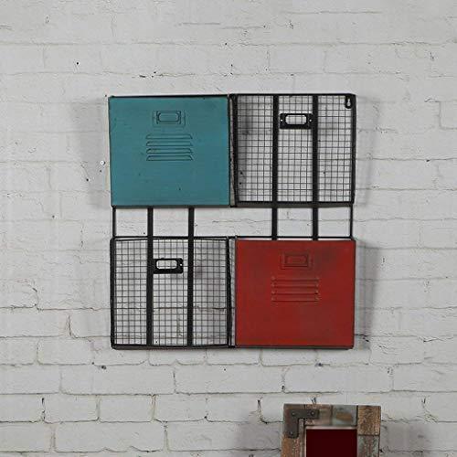 O&YQ Bequeme Aufbewahrungsbox für Den Haushalt Küchenregal, Regal Rack Iron Book Press Magazin Bücherregal Wandbehänge Wanddekoration Retro Wandschmuck