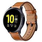 Aimtel Compatible con Samsung Galaxy Watch Active2 correa de 40 mm/Galaxy Watch Active 2 correa de 44 mm, correa de piel de 20 mm...
