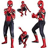 Disfraz de Spiderman Peter Parker, disfraz de Cosplay, mono de superhéroe, disfraces de disfraces de disfraces para adultos, niños, Lycra, Unisex