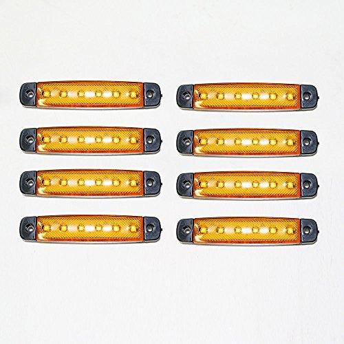 Universel 8 x 12 V LED Orange Jaune clair SMD Indicateur Side Marker lumière