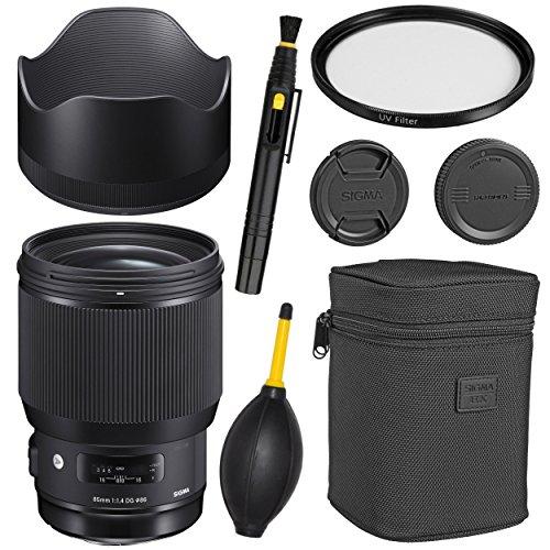 Sigma85mm f/1.4 DG HSM Art Lens for Canon EF + Essential Bundle Kit -International Version (1 Year AOM Wty)
