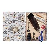 Bolígrafo de plumas vintage, juego de bolígrafos de plumas bonitos de estilo vintage de 1,0 mm Ligero y cómodo de agarrar para regalos para el hogar(Style 5)