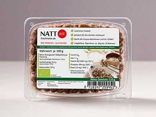 Natto BIO - Vitamin K2mk7, Nattokinase, Soja-Isoflavone, probiotische Bakterien
