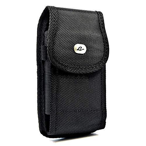Wonderfly Vertikale Tasche kompatibel mit HTC Desire 530, 555, 626, 626s, Alcatel Idol 4, Samsung Galaxy A10e, A20e oder J6, robuste Nylon-Tragetasche, passend für das Handy Gel einer dünnen Hülle