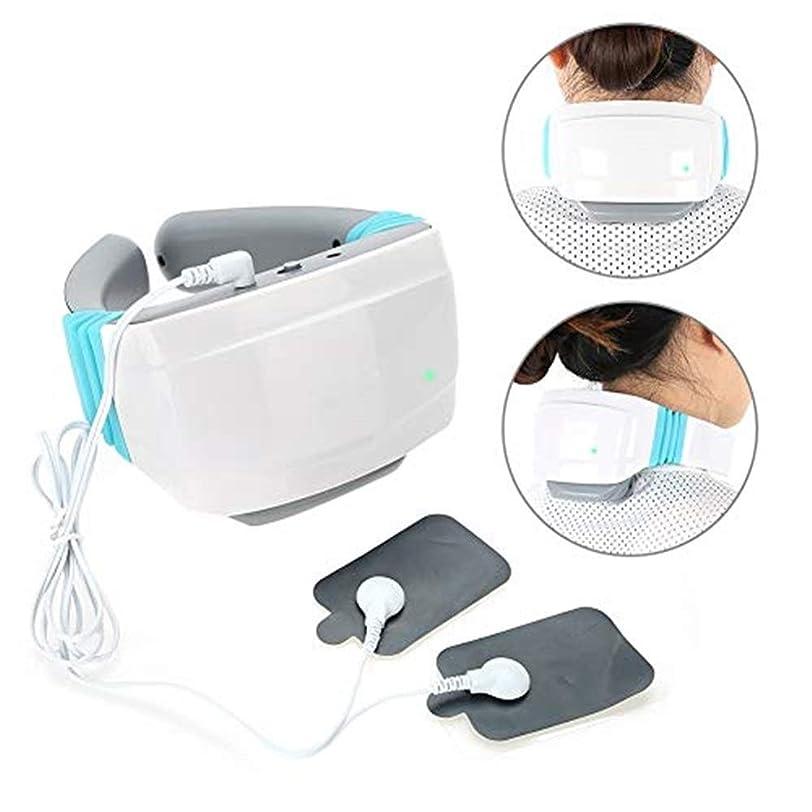 マッサージ 熱と首と肩のマッサージ、電気頸椎磁気パルスホット灸痛み緩和深部ティシュー3D混練枕マッサージ機 マッサージ クッション