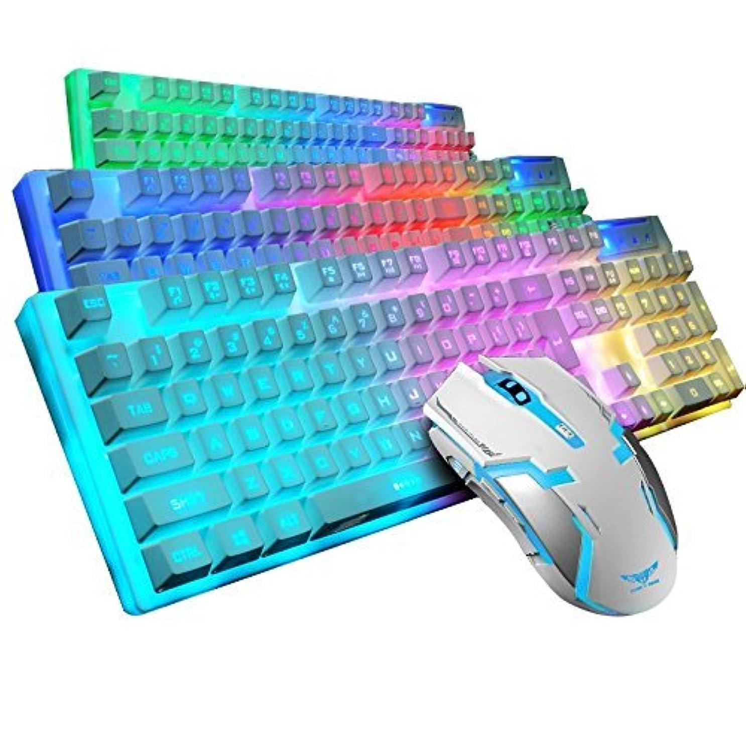 全員地下蒸し器LED Backlight USB Wired Multimedia PC blacklit Gaming Keyboard Game-Mouse SET by Genetic Los Angeles [並行輸入品]
